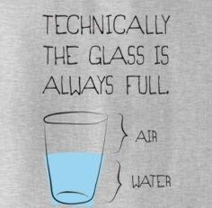 Bij mij is het glas altijd vol! Hoe zit dat bij jou?