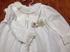 Antique french baby dress handmade french lace baby dress shabby chic cottage lace baby girl dress ruffles and lace