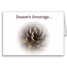 Larch Cone Seasons Greetings Greeting Card
