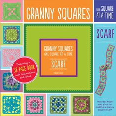 """Read """"Granny Squares, One Square at a Time / Scarf Granny Square Scarf"""" by Margaret Hubert available from Rakuten Kobo. With all you need to start crocheting your very own granny squares, this book includes a step-by-step illustrated instru. Granny Stripe Crochet, Granny Stripe Blanket, Crochet Borders, Crochet Stitches, Crochet Patterns, Granny Square Scarf, Granny Squares, Free Apps, Audiobooks"""