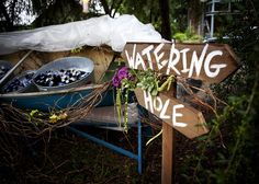 Fill canoe with ice & drinks for outdoor wedding - A Perfect Setting, Catering & Events, Inc. - Branford, FL