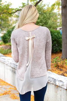 Chiffon Open Back Knit Sweater Pretty Outfits, Cool Outfits, Fashion Outfits, Punk Fashion, Lolita Fashion, Diy Clothes, Clothes For Women, Altering Clothes, Boutique Clothing