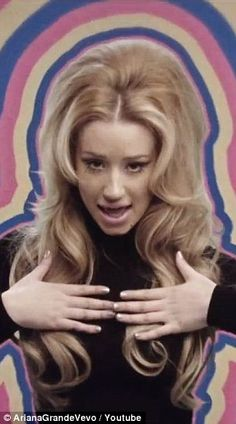 Shagadellic: Ariana Grande and Iggy Azalea show off their '60s retro vibe in the new music video for Problem