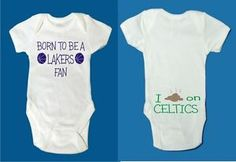 lakers clothes for babies | Baby infant creeper Lakers fan poop Celtics Boston Los Angeles