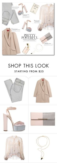 """pink & grey"" by valentino-lover on Polyvore featuring Current/Elliott, HUGO, Giuseppe Zanotti, Dorothy Perkins, Chloé and Givenchy"
