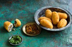 Spiced beef and potato croquettes (aloo masu chop)