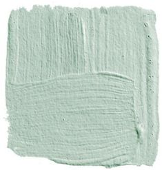 "colony green  ""This color is so terrifically pretty and filled with joy — sort of as if you were inside a robin's egg looking out into the light. I'd use it in a bedroom with white lacquered trim, a four-poster bed lacquered white, and crisp white bed linens.""   -  David   Kleinberg"