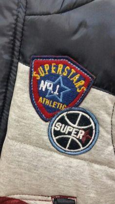 Sports varsity applique badge boys clothing