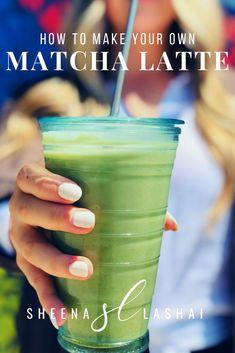How to make your own Matcha Latte with hemp milk clean recipe — Sheena Lashai Green Tea Smoothie, Matcha Smoothie, Tea Smoothies, Smoothie Drinks, Smoothie Recipes, Drink Recipes, Dinner Recipes, Matcha Benefits, Health Benefits