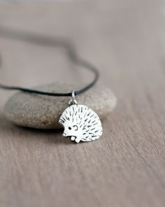 Silver hedgehog pendant Silver jewelry Sterling by ArtBerryStore