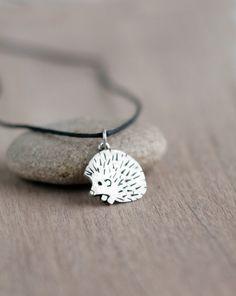 Silver hedgehog pendant Silver jewelry Sterling by ArtBerryStore