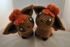 Vulpix inspired art doll. #Pokemon #Vulpix #Firetype #Crochet #Handmade #Art #Kawaii #Cute  www.etsy.com/listing/250224908/vulpix-pokemon-inspired-crochet-doll
