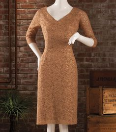 Gold Lace Holiday Dress