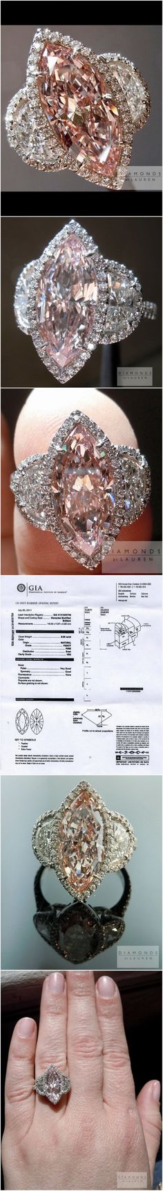 Here's what a million dollars looks like, wrapped around my little finger. I've always wanted to say something like that. Seriously, when I first saw this Pink Diamond, my jaw hit the ground. It's got a different type of presence, compared to a colorless diamond. Incredibly bright- but incredibly pink- which is not […]