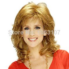 Charming Custom 100% Human Hair Medium Wavy Golden about 12 Inches Wig $267.00