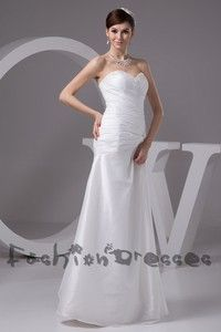 long prom dress sexy fashion Dresses sweetheart dress party dress white wedding dress lace up simple cheap Hand made Dresses Plus size Dress...