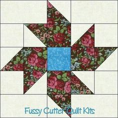 Lovely simple floral block using hst's