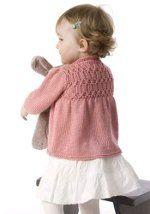 Strawberry Baby Cardigan - Pattern on back yoke
