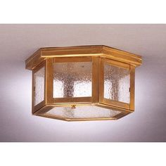 "Northeast Lantern Williams 5"" Sockets Flush Mount Finish: Antique Copper, Shade Color: White"