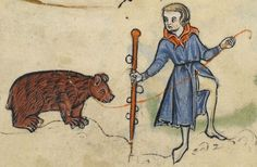 "Detail from ""The Rutland Psalter"", medieval (c1260), British Library Add MS 62925. f 56r"