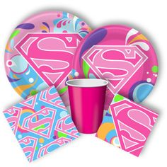 Supergirl Party Supplies, Supergirl Birthday Party discount party supplies