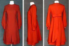 1970s Pierre Cardin Wool Day Dress