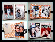 detalle paginas interiores mini album 4 paginas