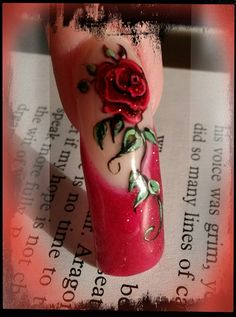 Red Rose - Nail Art Gallery | See more nail designs at http://www.nailsss.com/nail-styles-2014/