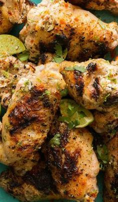 Cilantro Lime and Yogurt Grilled Chicken Wings