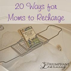 We know we should make time for ourselves so we can take better care of our families, but how do you do that when you are so busy? Find suggestions of how to make time for yourself and a list of 20 ways for moms to recharge in a busy world.