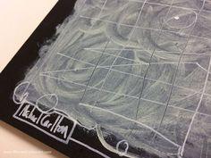 "Painting close-up ""Blackboard Scratch"""