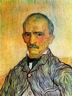 Portrait of Trabuc, an Attendant at Saint-Paul Hospital - Vincent van Gogh - WikiPaintings.org