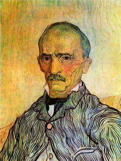 Portrait of Trabuc, an Attendant at Saint-Paul Hospital - Vincent van Gogh