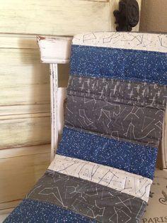 modern baby quilt, constellation nursery, constellation quilt, navy quilt