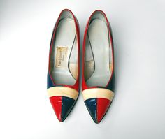 Ooh gorgeous...1950's Rare Town & Country Red White and Blue by OohLaLaBoutique