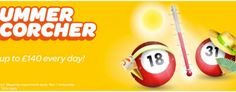 Get ready to win up to £140 every day till July 31 only on Sun Bingo. Enter the Summer Scorcher competition by playing your favorite games and win every day. Click to know more. http://www.onlinebingoz.com/beat-heat-winning-140-every-day-sun-bingo/
