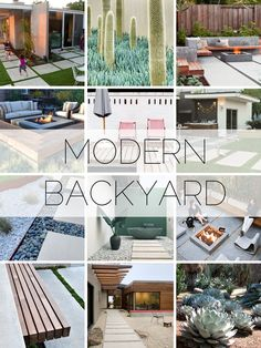 Mid Century Modern Backyard Inspiration