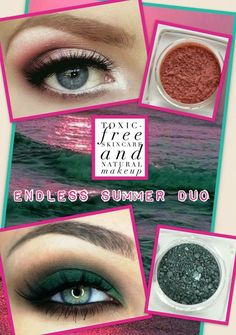 Beautiful looks created with our mineral eyeshadow. Check them out at kmsorganicmama.com.
