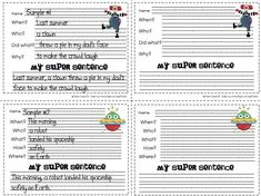 One way to get students to use more complex sentences when writing and make sure they grasp the concept of who, what, when,where, why, or h...