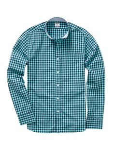 Ging Crosby Slim Shirt - Navy & Turquoise