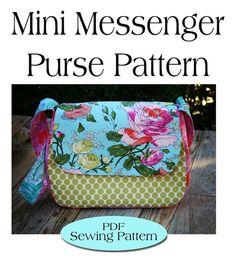Mini Messenger Bag Pattern,Purse Pattern PDF Sewing Pattern Ebook Sewing Tutorial DIGITAL FILE on Etsy, $7.00