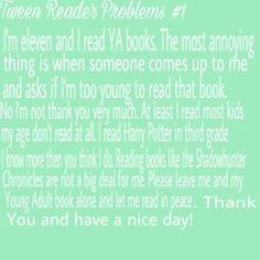 Tween Reader Problems