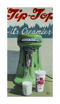 """""""Tip Top Milkshake"""", A Kiwiana art print by NZ Artist Matt Guild...memories of childhood"""