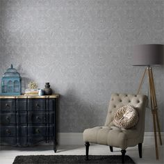 Graham & Brown Grey Province Blue Label Wallpaper I/N 1661698 | Bunnings Warehouse