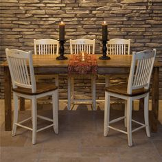 Custom Dining - Champlain Customizable Pub Table and Chair Set by Canadel