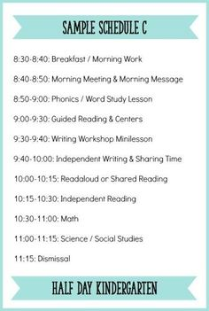 If you teach half-day Kindergarten, you know just how precious every minute is!!  This is a sample schedule for half-day Kindergarten with a balanced literacy block.  To read about each part of the literacy block and see another sample schedule, click here:  http://learningattheprimarypond.com/blog/how-to-build-a-balanced-literacy-block-for-kindergarten/