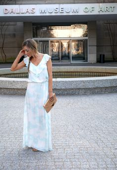 Springtime // Maxi Dress // Annie Griffin Collection // Bold Lip