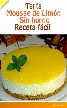 Tarta Mousse de Limón. Sin horno. Receta fácil