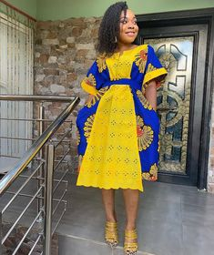 2019 African Fashion: Latest Beautiful Ankara Short Gown Styles – Naija's Daily - Gifted. Best African Dresses, African Fashion Ankara, Latest African Fashion Dresses, African Print Dresses, African Print Fashion, African Attire, Fashion Prints, Ankara Short Gown Styles, Short Gowns