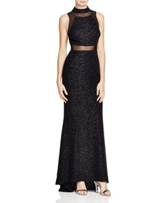c089ed534cee AQUA Sleeveless Mock Neck Gown   Bloomingdales's Formal Evening Dresses, Formal  Gowns, Evening Gowns